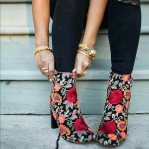 Steve Madden Embroidered Booties